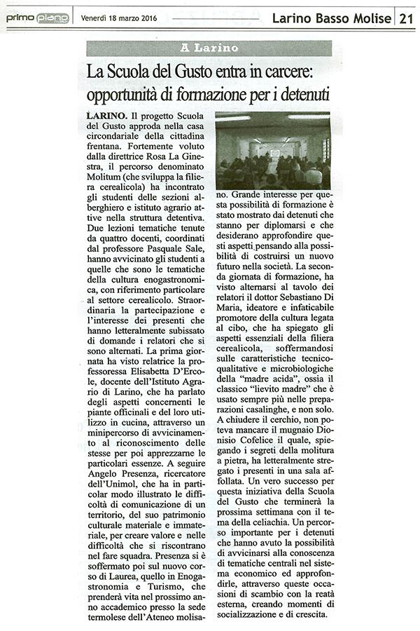 Primo Piano Molise 18 3 2016