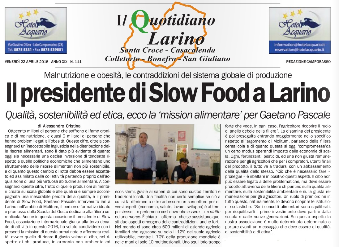 Quotidiano del Molise 23 04 2016